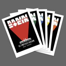 Rammstein silkscreen bundle Tour 2019 - all cities