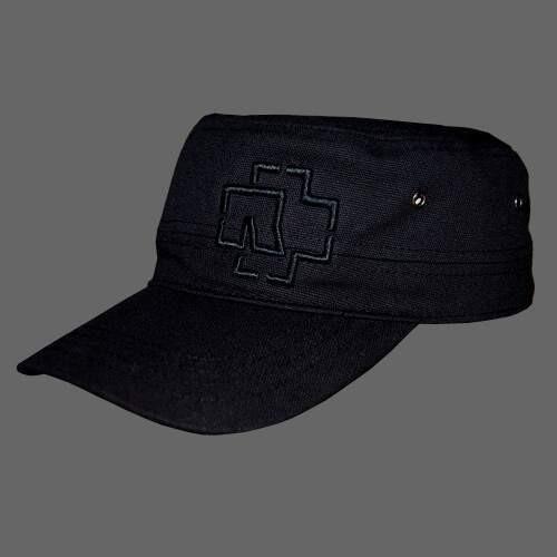 rammstein army cap outline logo schwarz rammsteinshop
